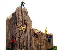 6 Assorted Rock Climbers - N gauge unpainted figures Langley A104