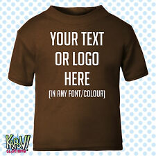 Custom Personalised Baby/Kids/Childrens T-SHIRT Name Funny Gift-Your text/logo 3