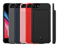 10000mAh For iPhone 6 7 8 Silicone Battery Power Bank Charger Backup Case Cover
