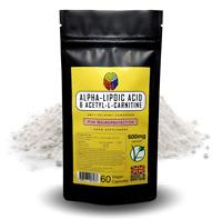 Acetyl L-Carnitine & a-Lipoic Acid Capsules (ALCAR ALA)- 300mg/300mg + FREE GIFT