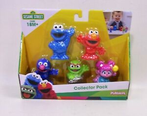 Sesame Street Playskool Collector Pack 5 Figures Cookie Grover Oscar Elmo Abby