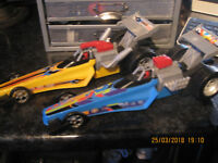 FISHER PRICE SHAKE N GO DRAGSTERS CARS X2 ONE FULLY WORKING  READ DESCRIPTION
