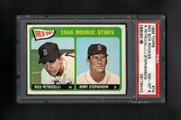 1965 TOPPS #74 RED SOX ROOKIE STARS PETROCELLI/STEPHENSON PSA 8 NM/MT