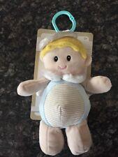 "Kelly Baby 10"" Baby Boy Angel Pram/Stroller Toy W/Rattle"