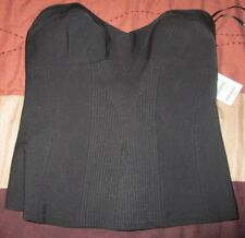 NWT bebe Black TRAPUNTO BUSTIER  Size 8 ~ $89 Retail ~ FREE SHIPPING