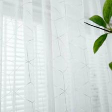For Bedroom Shade Window Curtain Modern Hotel Metallic Trellis Panel Living Room
