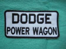 "Dodge Power Wagon Racing Patch 3 7/8"" X 2 """