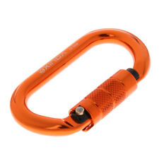 25KN Aluminum Auto Locking Carabiners Oval-Ring Hook for Rock Climbing Caving