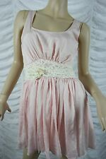 KITTEN PINK soft pink empire waist cherish party dress size M BNWT