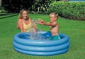 INTEX Paddling Swimming Pool Childrens Kids 114cm 3 Ring Garden Play Pool *SALE*