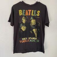Junk Food Beatles Graphic Band Tour Tee Short Sleeve Crew Neck Sz S