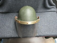 "New ListingBritish Mk V ""Turtle Shell� Helmet W/ Riot Shield-Type Used In Northern Ireland"
