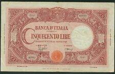 ITALY BANCA D'ITALIA  1945  500 LIRE BANKNOTE, VF/VF+, 13.2.45, PICK-70c