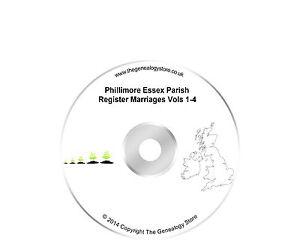 Phillimore Essex Parish Register Marriages Vols 1-4