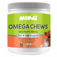 Omega 3 For Dogs Skin & Coat Support Natural Fish Oil EPA and DHA 60 Soft Chews