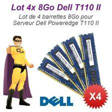 Lote 4x 8Go 32Go RAM Servidor Dell T110 II Dimm 240-PIN DDR3 PC3-12800E ECC 2Rx8