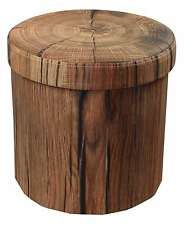 Sorbus Storage Ottoman – Foldable/ Collapsible with Lid Cover – (Tree Stump)