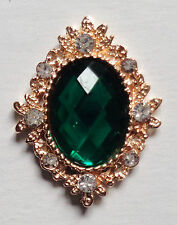 Decorative  Metal Rhinestone Flatback Crystal buttons embellishment  set of 2