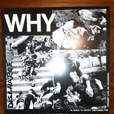 """Discharge - Why 12"""" EP  broken bones conflict punk vinyl"""