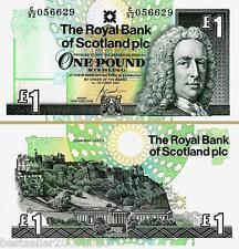 SCOTLAND 1 POUND UNC # 307