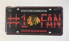 Chicago Blackhawks #1 Fan Auto Car Truck Metal License Plate Tag New NHL