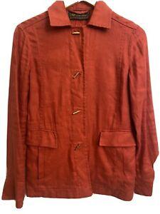 Loro Piana  Orange Jacket Size M Lino/Flax