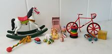 Dolls House Toys Playroom Childs Room Nursery Jack in Box Rocking Horse Wooden