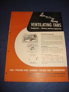 1950's Air King Fan Catalog Berns Mfg retro Kitchen planning vintage Home Design