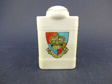 China Model of a Bottle/Flask with Exmouth Crest