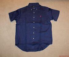 NEW Polo Ralph Lauren Pony Logo Linen Short Sleeve Classic Shirt XS S M L XL XXL