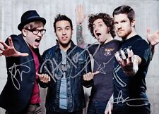 FALL OUT BOY firmato reroduction A4 POSTER STAMPA POP ART 297mm x 210mm