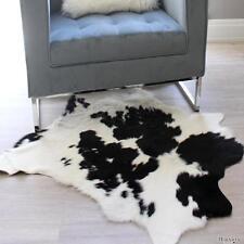 BLACK & WHITE COWHIDE CALF HIDE PELT FLOOR  RUG UPHOLSTERY PREMIUM QUALITY