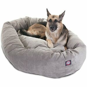 52 inch Vintage Villa Collection Micro Velvet Bagel Dog Bed By Majestic Pet P...
