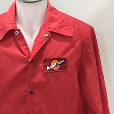 Manitowoc Crane Company Wisconsin Vintage 1970s Nylon Jacket Mens Medium Hipster