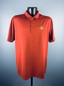 Men's Nike Golf 2016 Indianapolis 500 Maroon Polyester Short Sleeve Golf Polo L