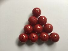Red And Gold Spot 20mm Acrylic Beads - Pack Of 10