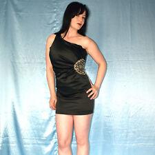 Strass-Taille im Blüten COCKTAILKLEID one shoulder* XS * Minikleid* Abendkleid