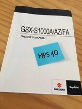 Suzuki GSX-S1000A/AZ/FA GSX-S1000 L8 manuel entretien conducteur propriétaire