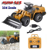 HUINA 583 2.4G RC Bulldozer Truck RC 1:14 Scale 10 Channels Model Cars Toy RTR