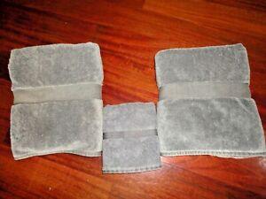 VINTAGE RALPH LAUREN AVENUE COBBLESTONE (3PC) SET BATH & HAND TOWELS