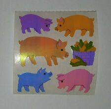 🦁💜Sandylion 1 Abriss Schweine Glanz Pearly Scrapbooking Sticker 90er💜🦁