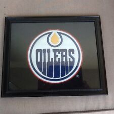 Large Size Edmonton Oilers Logo Patch Framed For Wall