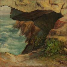 cm 40x40 SCOGLIERA - Millus - Olio su Tela - Marina