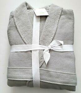 Pottery Barn Organic Cotton Spa Robe Gray L Unisex Mens Womens NWT