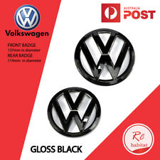 SET OF GRILLE & HATCH GLOSS BLACK BADGES FOR GOLF 7 MK7 VW VOLKSWAGEN GTI R