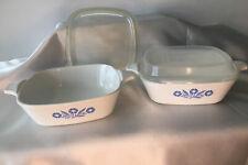 Blue Cornflower Bowls Set Of 2 With Plastic Lids