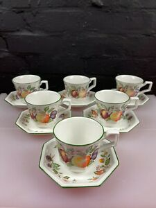6 x Johnson Brothers Fresh Fruit Tea Cups and Saucers 5 Sets Available
