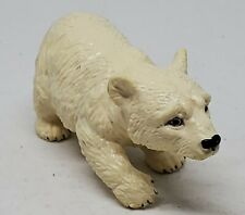 "Vintage '80s AAA Polar Bear Cub Baby PVC Plastic Toy Figure Realistic 3"" long"