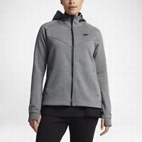 NIKE SPORTSWEAR TECH FLEECE FULL ZIP HOODIE CARBON,BLACK 863125-092 WOMEN'S 3X