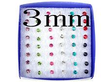 48Pcs Wholesale Lot Charming Clear Rhinestone Crystal Ear Studs Earrings Fashion